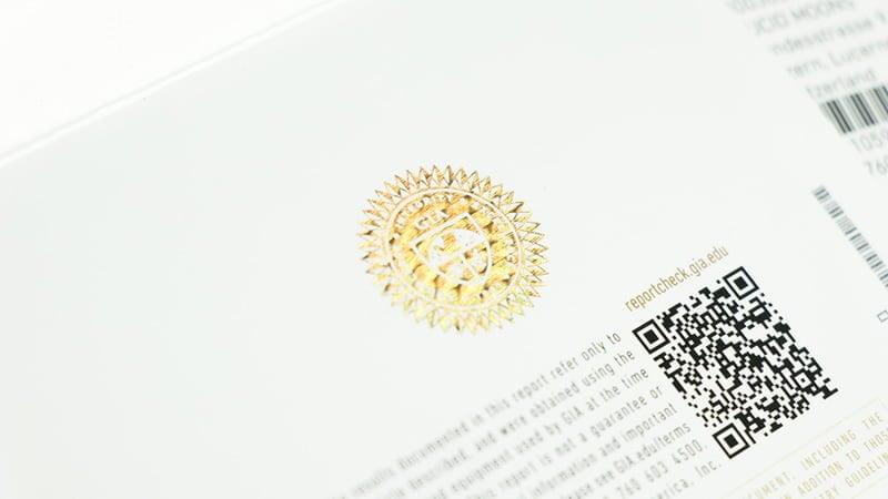 GIA Zertifizierung Siegel