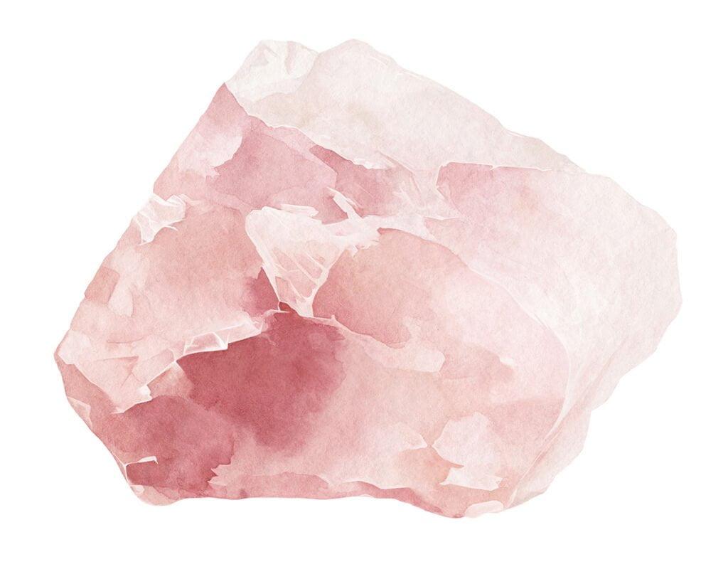 Rosenquarz Kristall in seiner ursprünglichen Form.